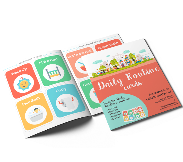 Printable daily routine picture cards for kids