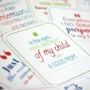 Inspiring positive affirmation cards for moms. Encouragement for moms. Best gift for moms.