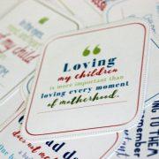 Inspiring positive affirmation cards for moms. Encouragement for moms. Best gift for moms.