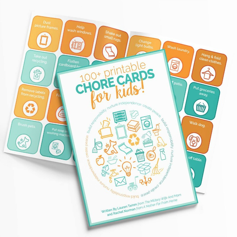 picture regarding Printable Chore Pictures named 100+ Printable Chore Playing cards for Little ones - The Navy Spouse and Mother Keep
