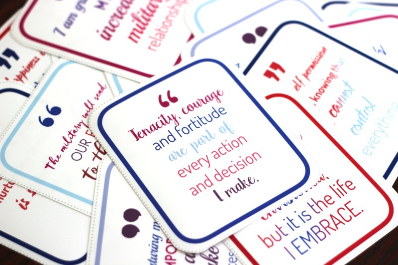 photograph about Printable Affirmations called 31 Times of Printable Affirmations for Army Spouses