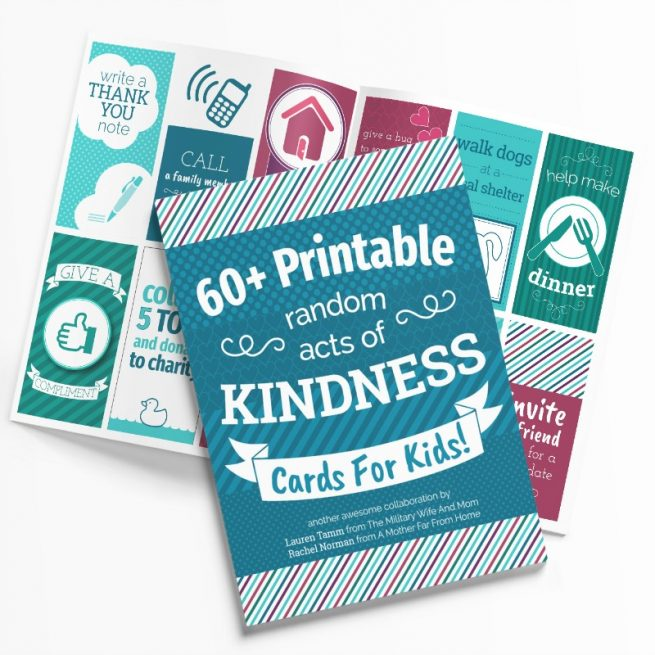 Printable acts of kindness cards for kids