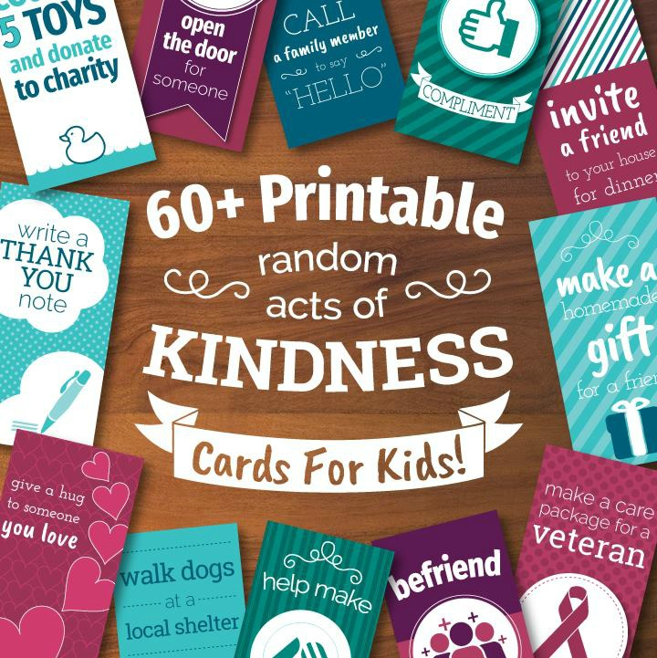 image regarding Random Act of Kindness Printable identify Printable Random Functions of Kindness Playing cards